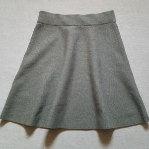 Ann Taylor A-line circle full skirt knit stretch M